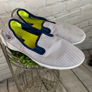 Skechers Nautical Striped On the Go Sneakers